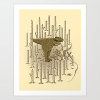 t rex Art Prints featuring T-REX by Lucas Scialabba :: Palitosci