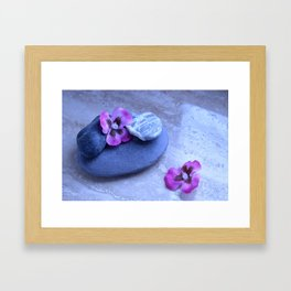 stones and orchids Framed Art Print