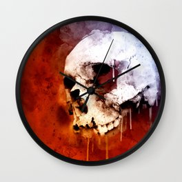 Cool Skull, Unique Best Skull Painting Wall Clock