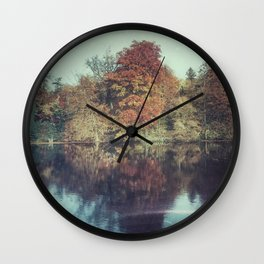 The surface of the autmn refelctions Wall Clock