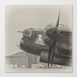Avro Lancaster Thumper mono Canvas Print