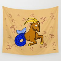capricorn Wall Tapestries featuring Capricorn by Giuseppe Lentini