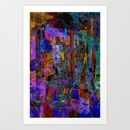 Abstract Window Reflections Art Print