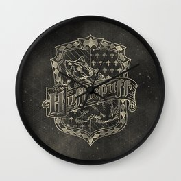 Hufflepuff House Wall Clock