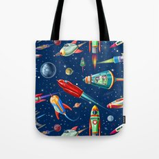 rockets in traffic Tote Bag