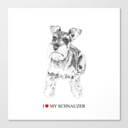 I love my Schnauzer Canvas Print