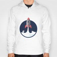 rocket Hoodies featuring Rocket by NextDesigns