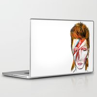 david bowie Laptop & iPad Skins featuring Bowie by James Peart