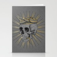 stay gold Stationery Cards featuring stay gold by Laura Graves