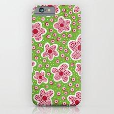Pink Star Flowers Slim Case iPhone 6s