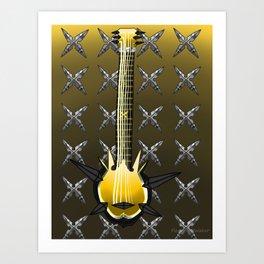 Keyblade Guitar #23 - Ominous Blight Art Print