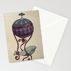 Whales Can Fly Stationery Cards