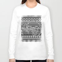 ethnic Long Sleeve T-shirts featuring ethnic by jun salazar