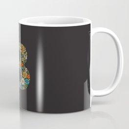 Hippie Floral Letter B Coffee Mug