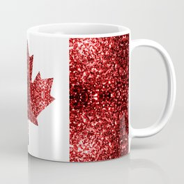 Canada flag red sparkles Coffee Mug