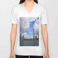 toronto V-neck T-shirts featuring Toronto by Rose&BumbleBee