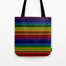 Tribality Rainbow Black Background Tote Bag