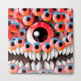 Eyeball Monster Metal Print