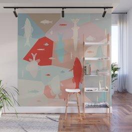 California Pastel Fish Wall Mural
