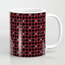 Buffy Symbol Inspired Checker Pattern Coffee Mug