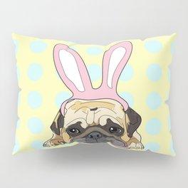 Happy Easter Pug Pillow Sham