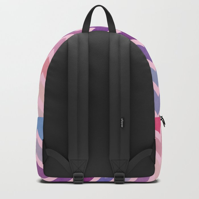 Watercolor Chevron Pattern II Backpack