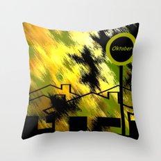 Herbstimpression. Throw Pillow