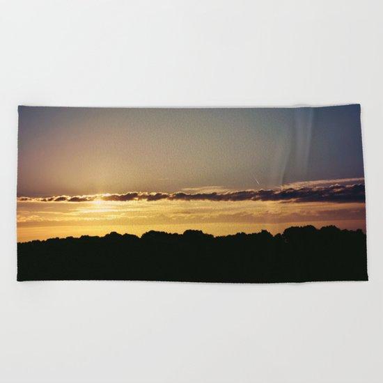 City Sunlight #3 Beach Towel