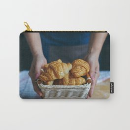 Croissant in a wicker basket Carry-All Pouch