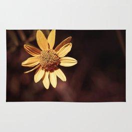 Yellow coneflower/sunflower Rug
