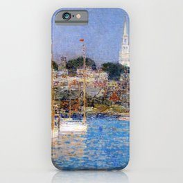Newport Harbor, Newport, Rhode Island - Cat Boats by Frederick Childe Hassam iPhone Case