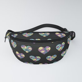 patchwork hearts Fanny Pack