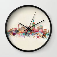 lincoln Wall Clocks featuring Lincoln nebraska by bri.buckley
