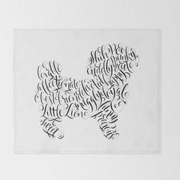 Shih Poo Shih Tzu Wall Art Shitzu Sticker Shihtzu Art Throw Blanket