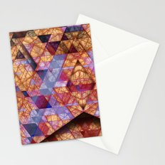 Triangles at Night Stationery Cards