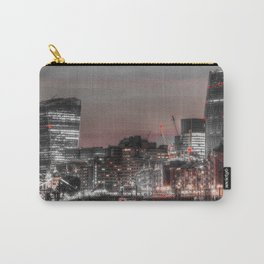 London in Monochrome and Red Carry-All Pouch