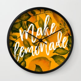 Make Lemonade Wall Clock
