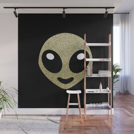 Alien smiley Wall Mural