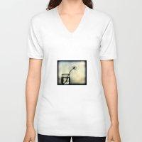dandelion V-neck T-shirts featuring dandelion by Ingrid Beddoes