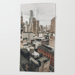 New York City View Beach Towel