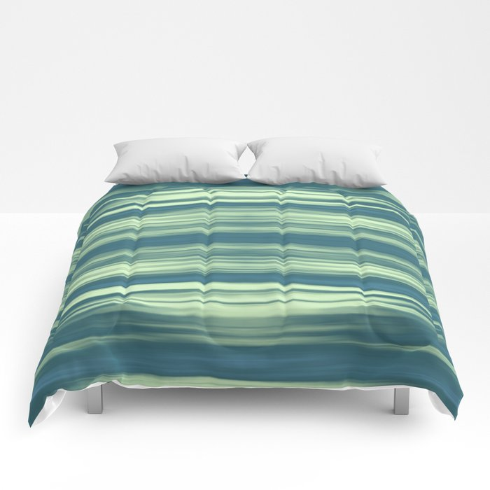 Abstraction Serenity in Afternoon at Sea Comforters