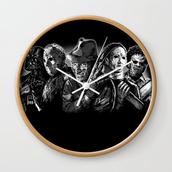 Black Wall Clocks freddy krueger jason voorhees michael myers leatherface darth