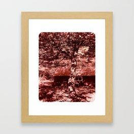 Shambhala Shed Sepia_Sara_Metal Framed Art Print