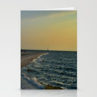 sailboat Stationery Cards featuring Sailboat by Damn_Que_Mala