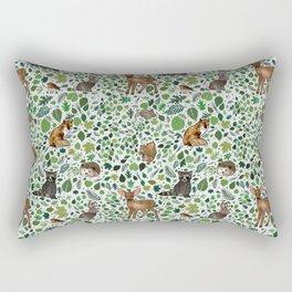 Woodland Animal Friends Rectangular Pillow