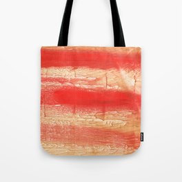 Burnt sienna abstract watercolor Tote Bag