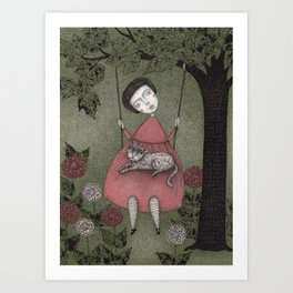 Grandmother's Swing Art Print