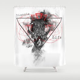 Triangle of life Shower Curtain