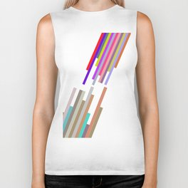 lines and colors Biker Tank