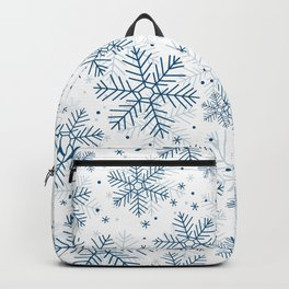 Blue snowflakes pattern Backpack